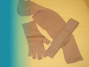 Manga y guante post terapia de linfedema