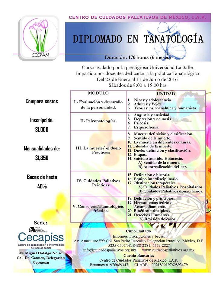 diplomado Tanatologia 2016